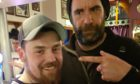 James Anderson bumping into the Hound at the Marlex pub.