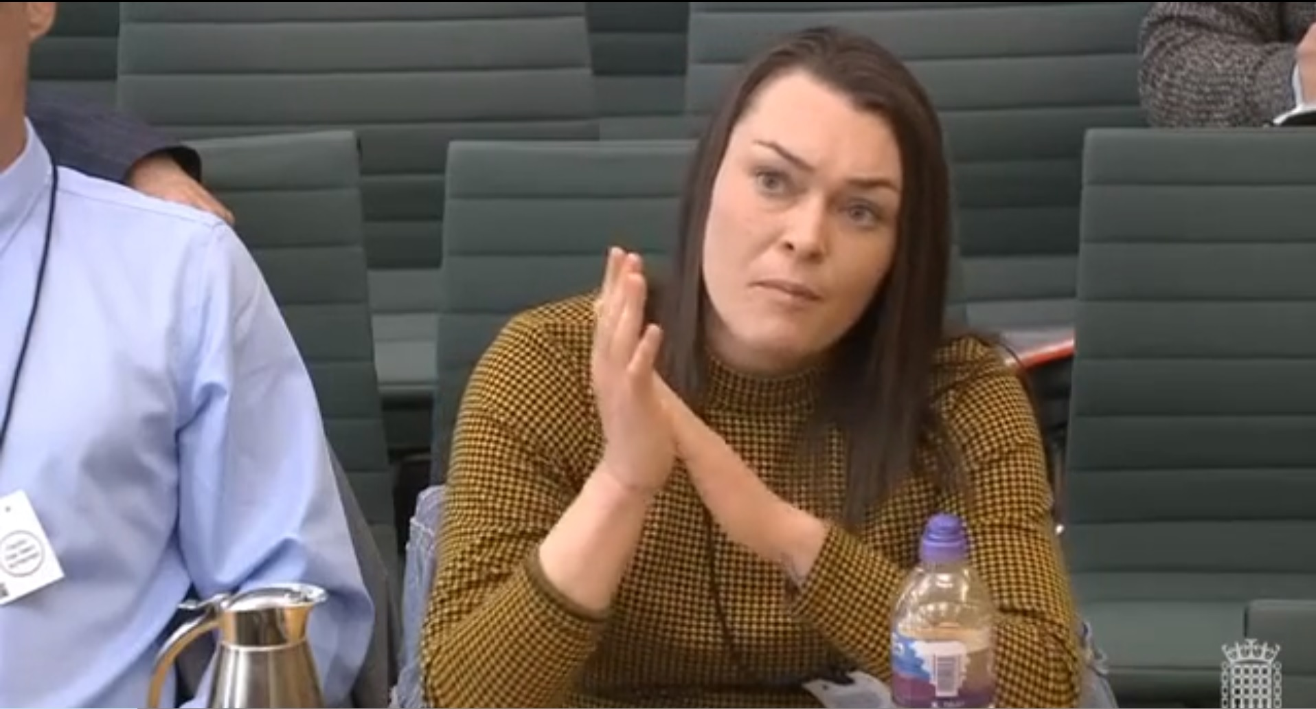 Recovering addict Hannah Snow appearing before Scottish Affairs Committee