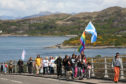 Around 100 people joined in the march on Saturday crossing the Skye Bridge to help raise awareness of Mental Health.