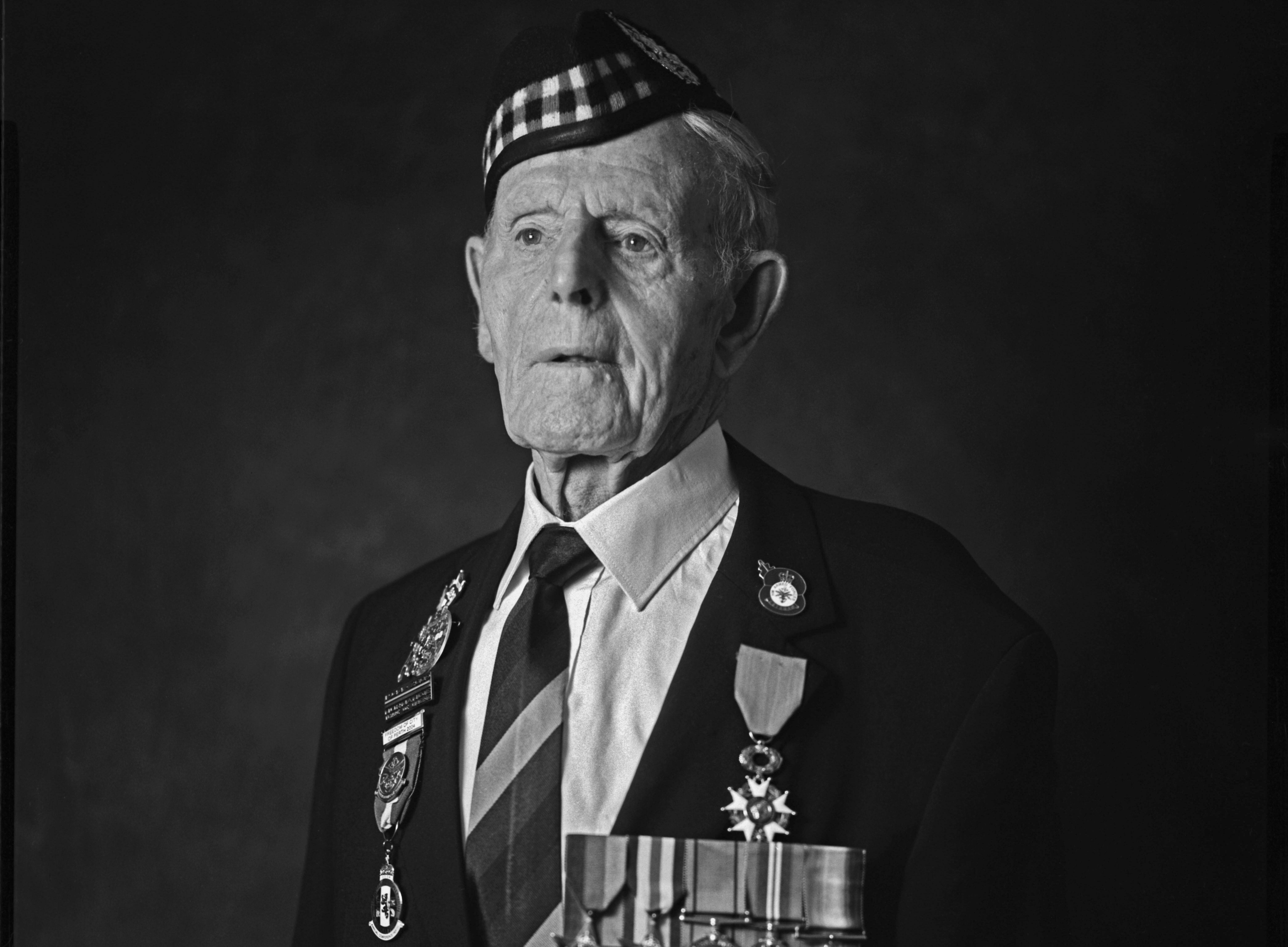 Jim Glennie who volunteers at the Gordon Highlanders Museum