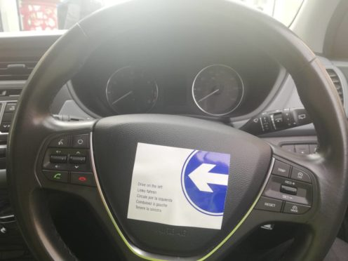 Police on Skye have praised the Keep Left stickers which have been noticed in rental vehicles across the island