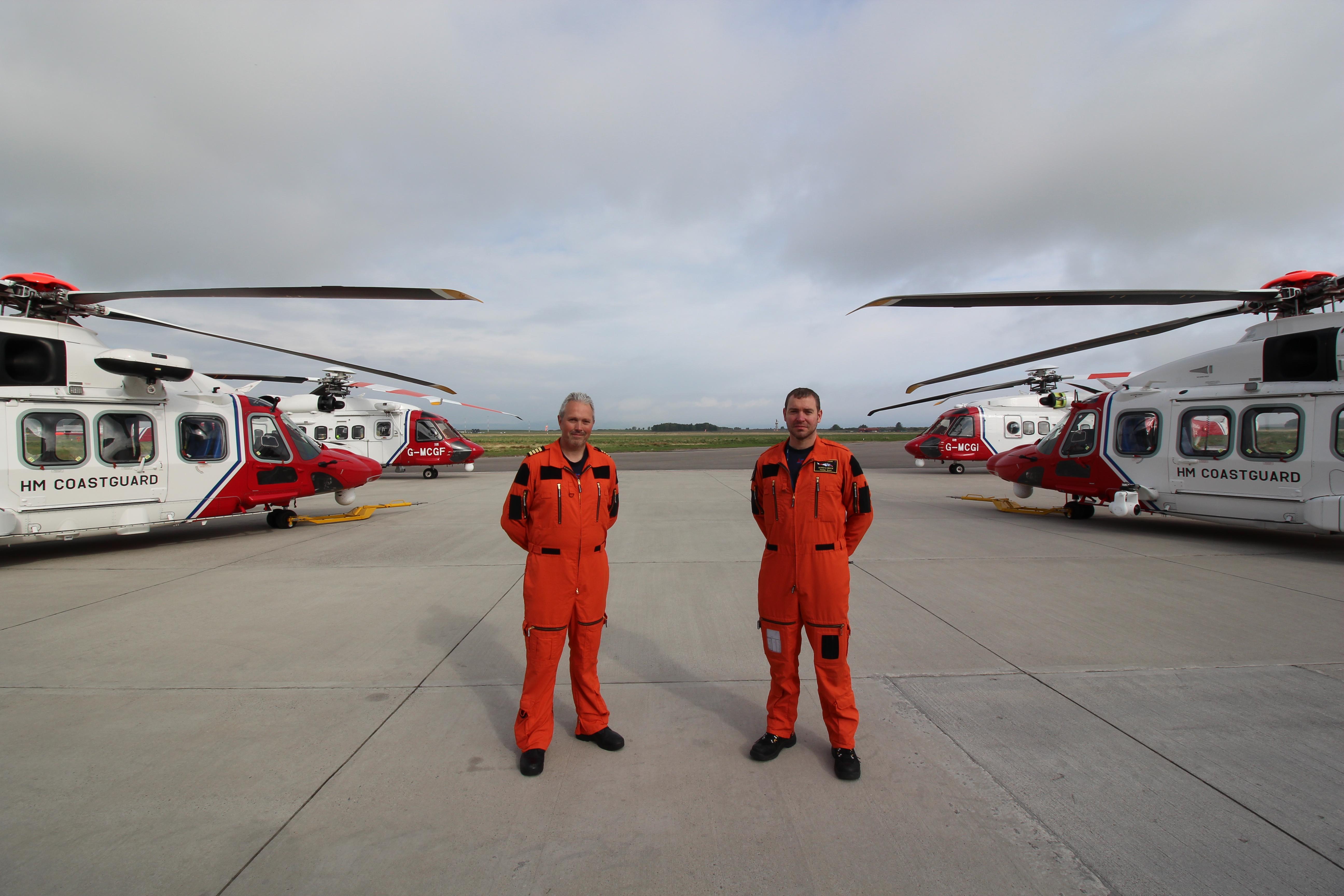 Inverness SAR crew members Captain Simon Hancock and Tom Greene