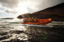 """""""Arran RNLI's volunteer inshore lifeboat crew (ILB) out on exercise in their Atlantic 85, the same class of lifeboat soon to be received by Stonehaven's crew"""""""