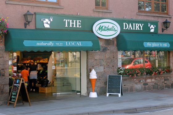 Mitchells Dairy, Inverurie before it closed its doors in 2017.