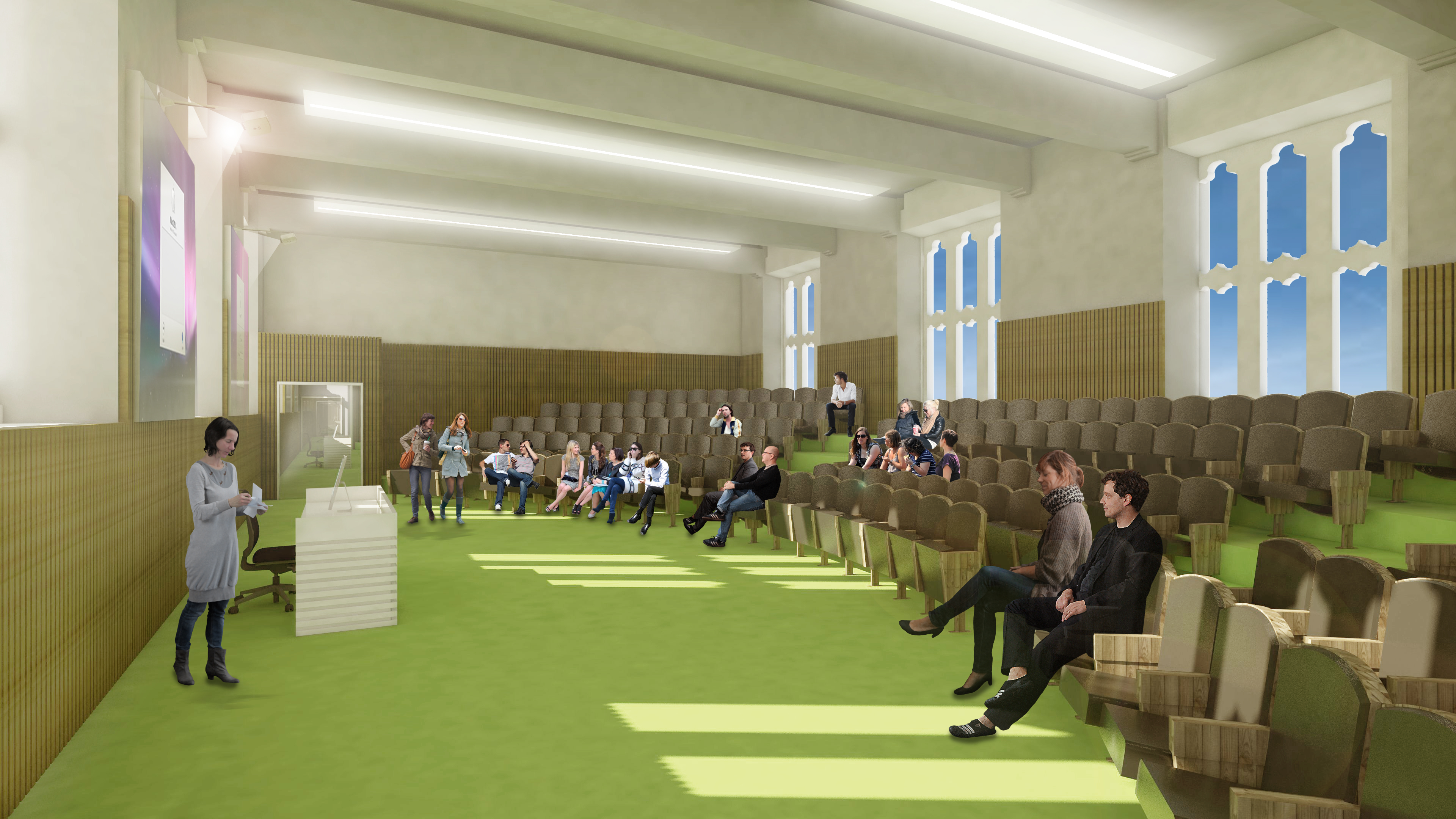 Concept images showing what the new spaces could look like at the University of Aberdeen.