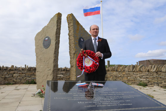 Arctic Convoy commerations at Lyness on the Orkney island of Hoy.