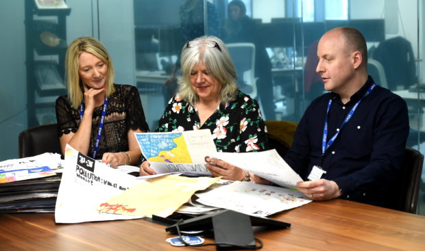 Press and Journal Junior Journalist Entries being judged. 07/05/19 Picture by Heather Fowlie