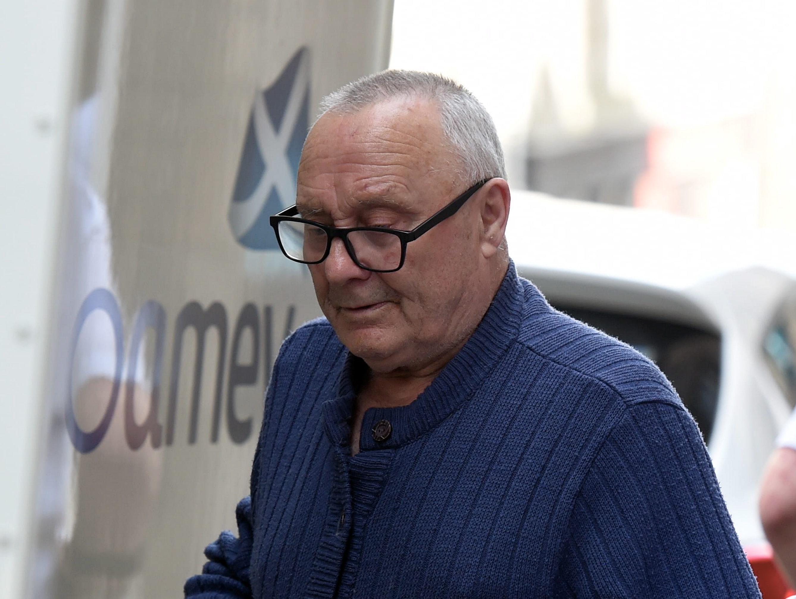 William Farmer leaving Aberdeen High Court