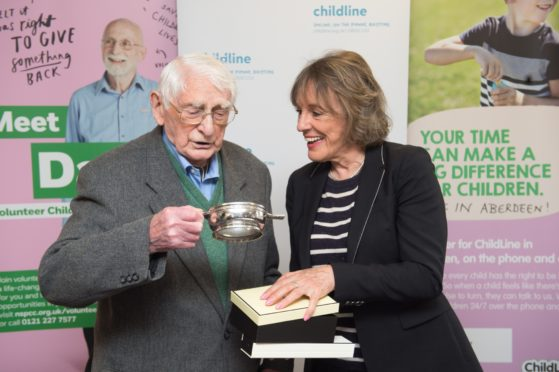 Childline founder Esther Rantzen with Norman Hutchison. Picture by Jason Hedges.