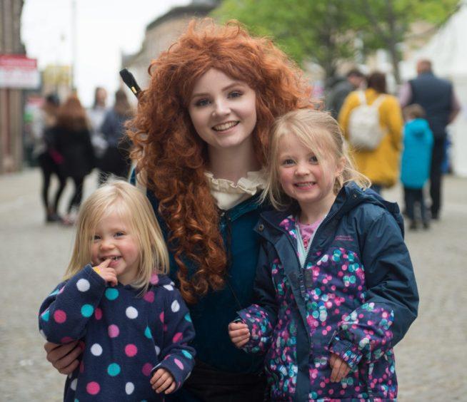 L-R:  Savannah Jack aged 2, Scottish Princess provided by Ra Ra Aberdeen and Amalie Jack aged 4.