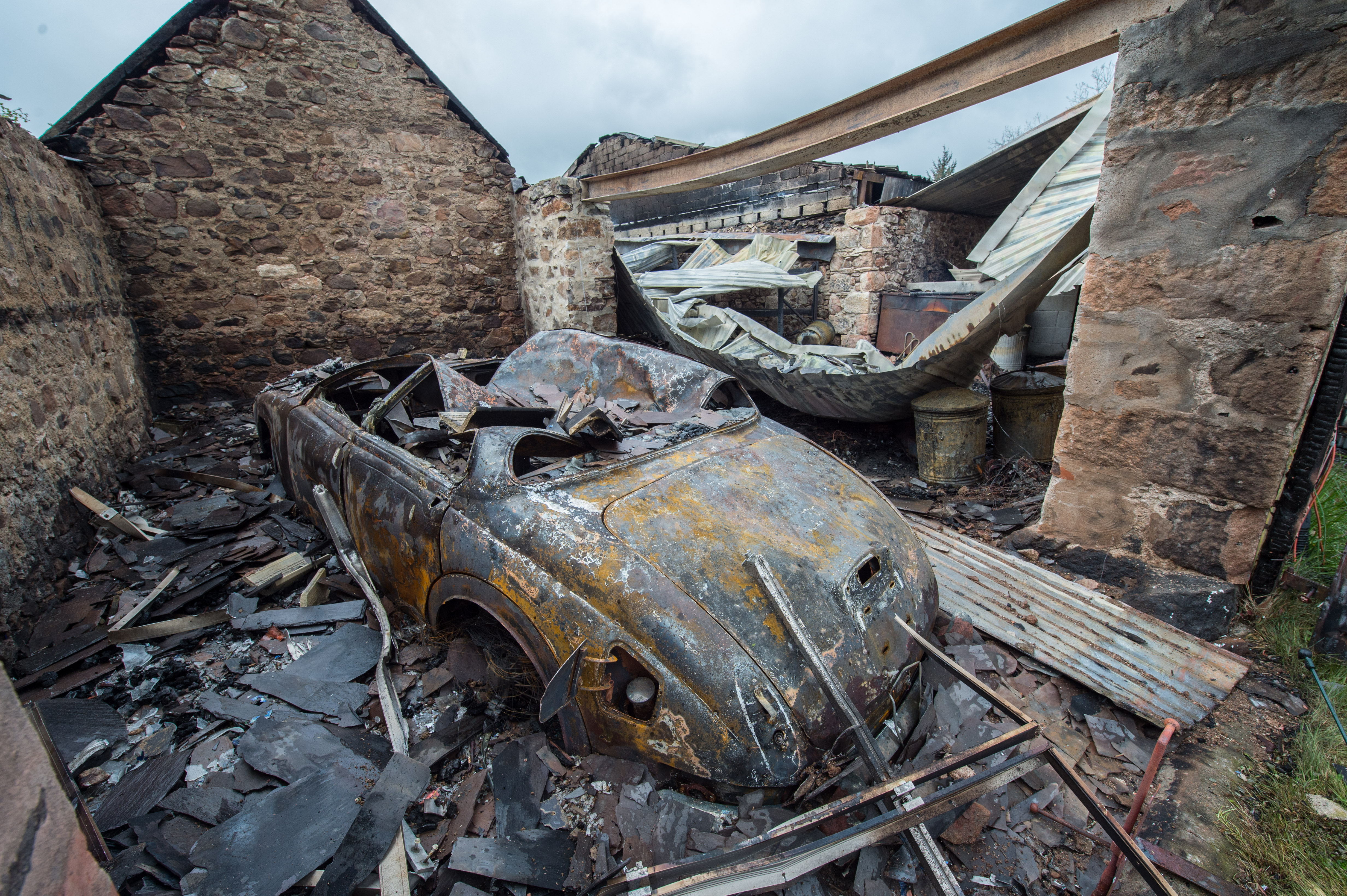 Pictures show the remains of Cortietown Farm house in Clatt, Aberdeenshire. Pictures by Jason Hedges.