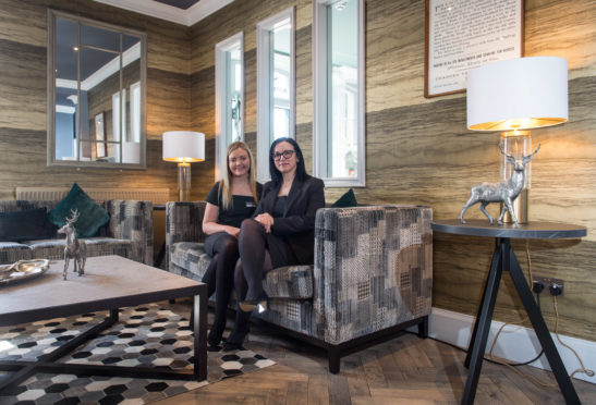 Deputy manager Ailie Flett with hotel manager Gabriela Iures at the Seafield Arms. Picture by Jason Hedges