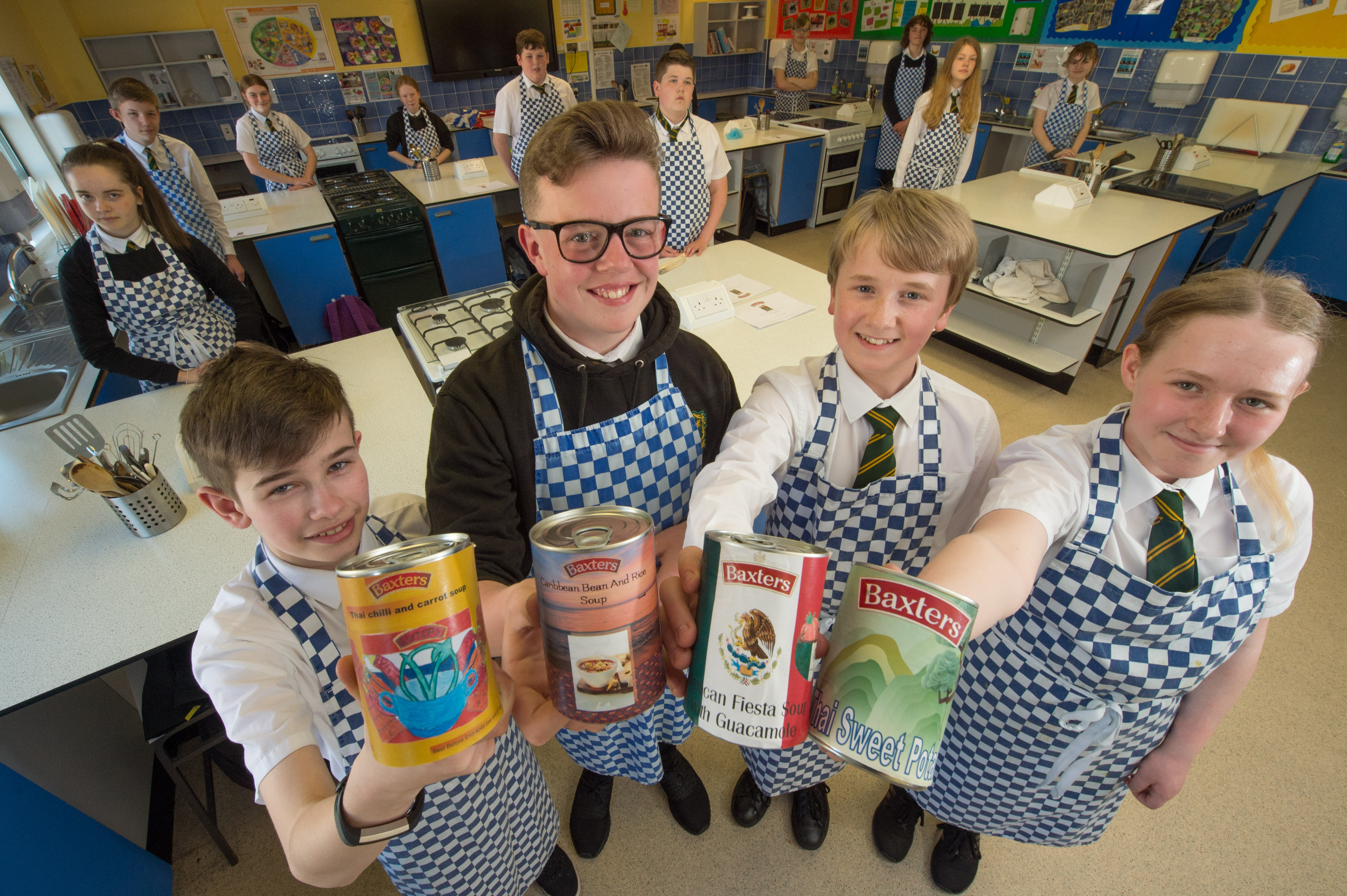 Milne's High School students are tasked by soup giant Baxters to come up with creative new healthy eating recipe.