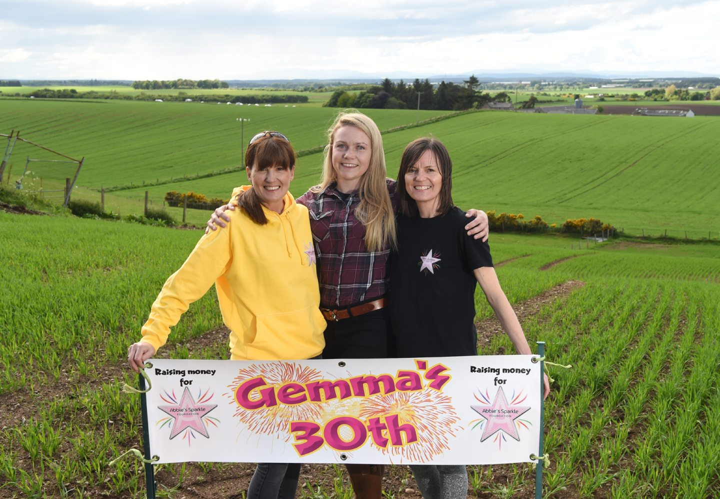 Gemma Anderson (middle) who recently celebrated her 30th Birthday and raised £1444 for Abbie's Sparkle Foundation is pictured with Tammy Main(right) and Angela Jess (left). Picture by Jason Hedges