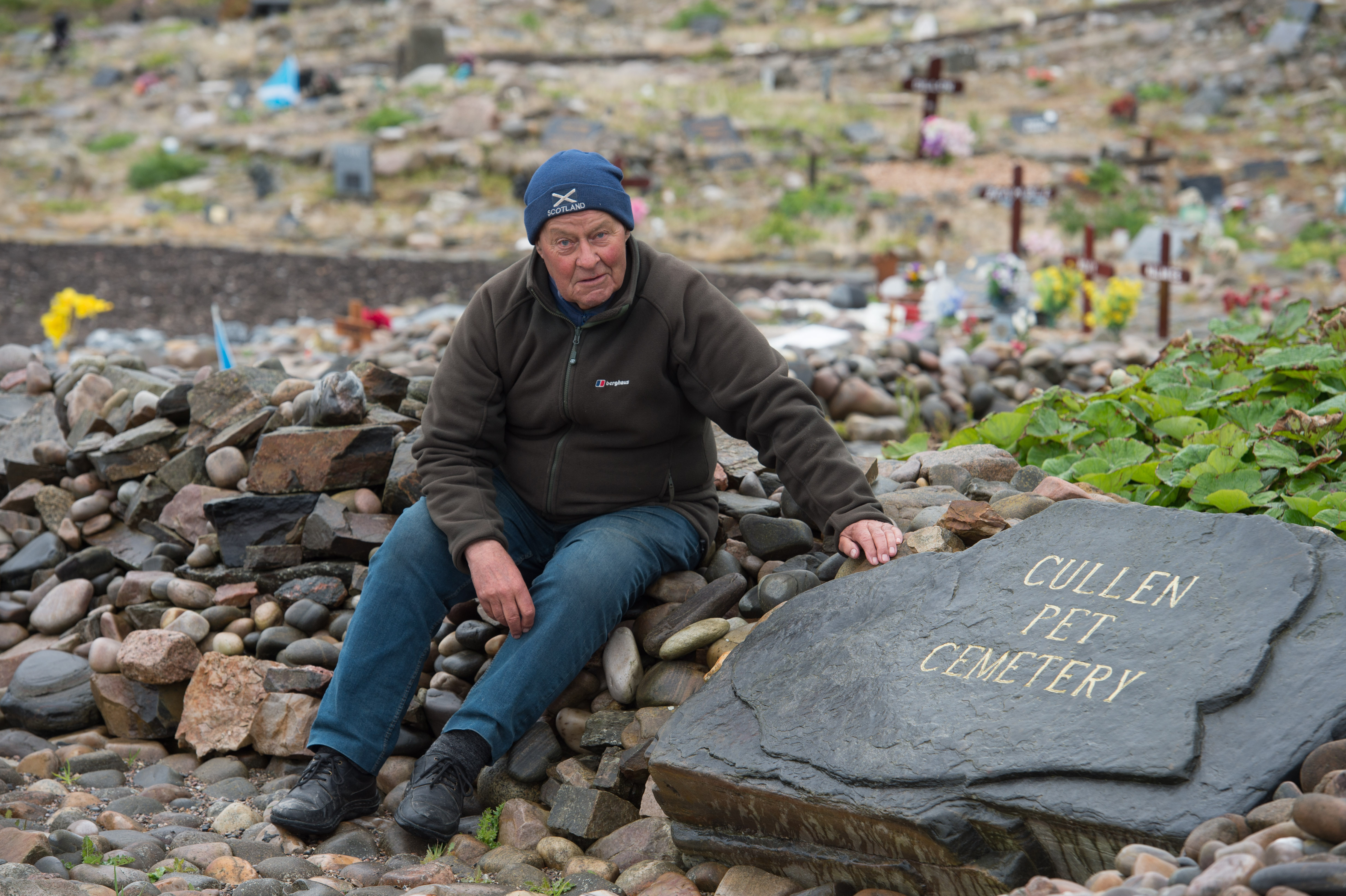 Stephen Findlay at the Pet Cemetery in Cullen. Picture by Jason Hedges