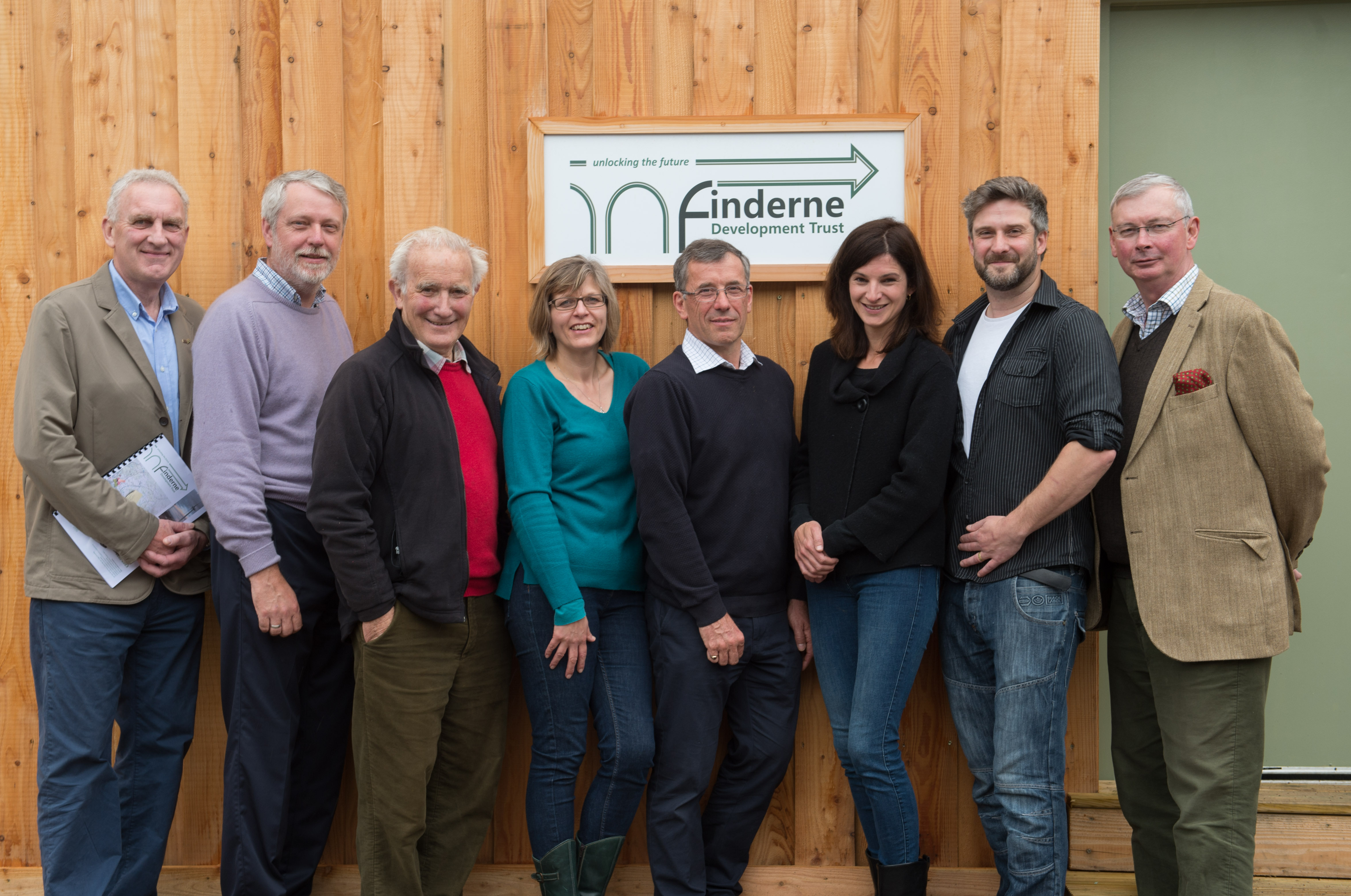 Members of Finderne Development Trust. Pictured: Jo Laing, Karen Astil, Brian Higgs, Peter Taylor, Carlo Miele, Roy Dennis, John Cudworth, Chris Piper.