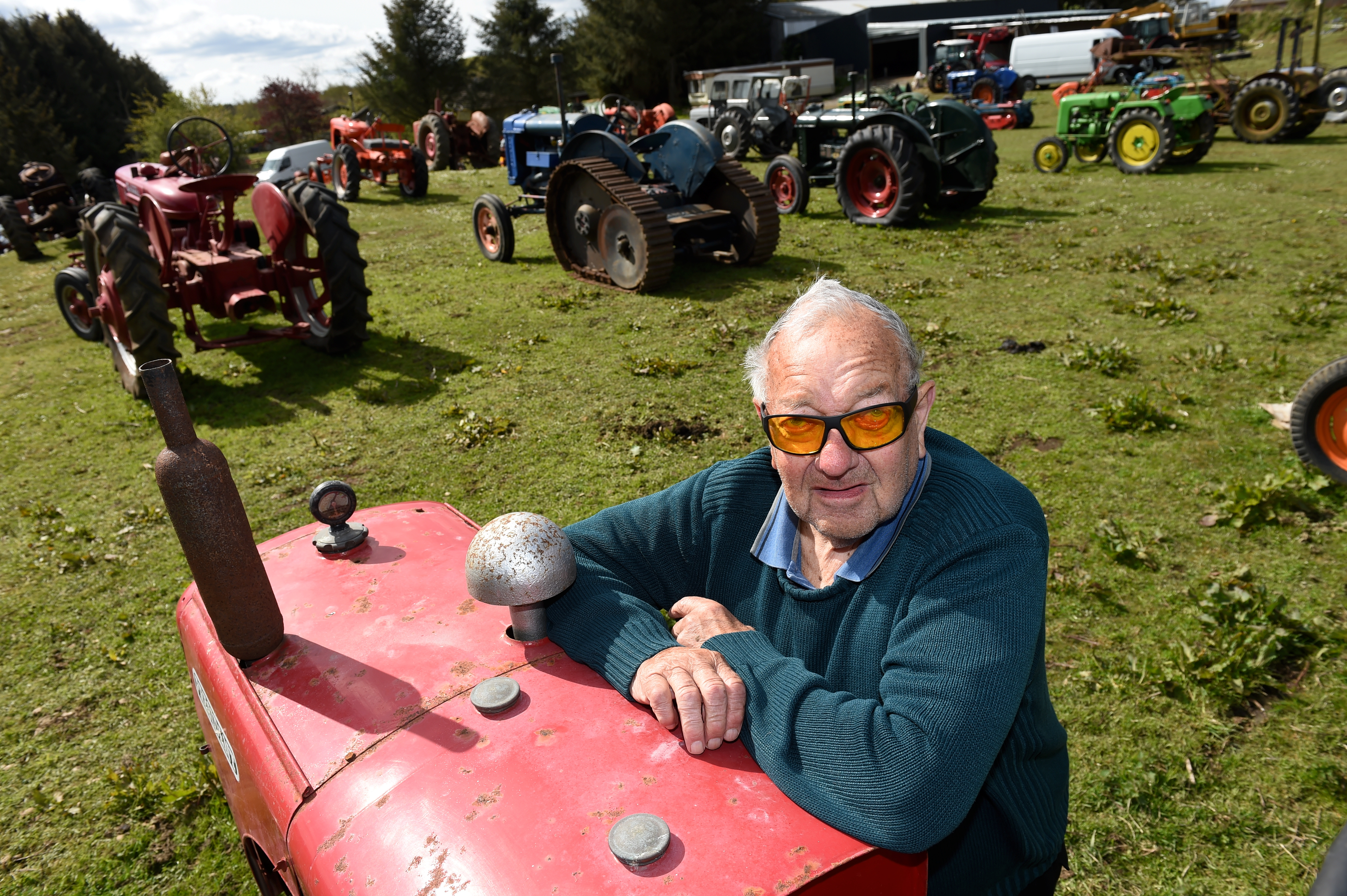 Tractor collector Davie Reid is selling his collection