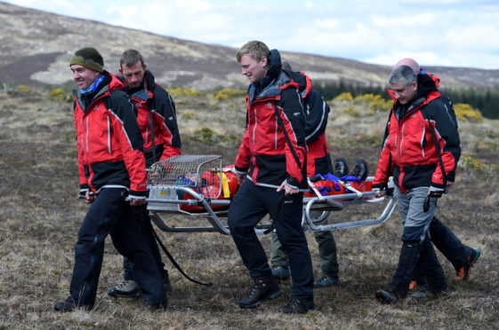 Mountain rescuers can often be faced with challenging situations.