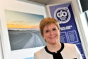 Nicola Sturgeon at the Aker Solutions building