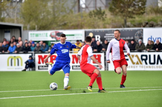 Mitch Megginson was on target in the win over East Kilbride at the weekend.