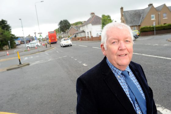 Councillor Bill Boyd on Glenurquhart Road, Inverness. Picture by Sandy McCook.