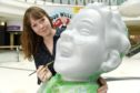 Artist Claire Maclean live-painting 'Oor Wullie' in the Eastgate Shopping Centre, Inverness. Pictures by Sandy McCook.