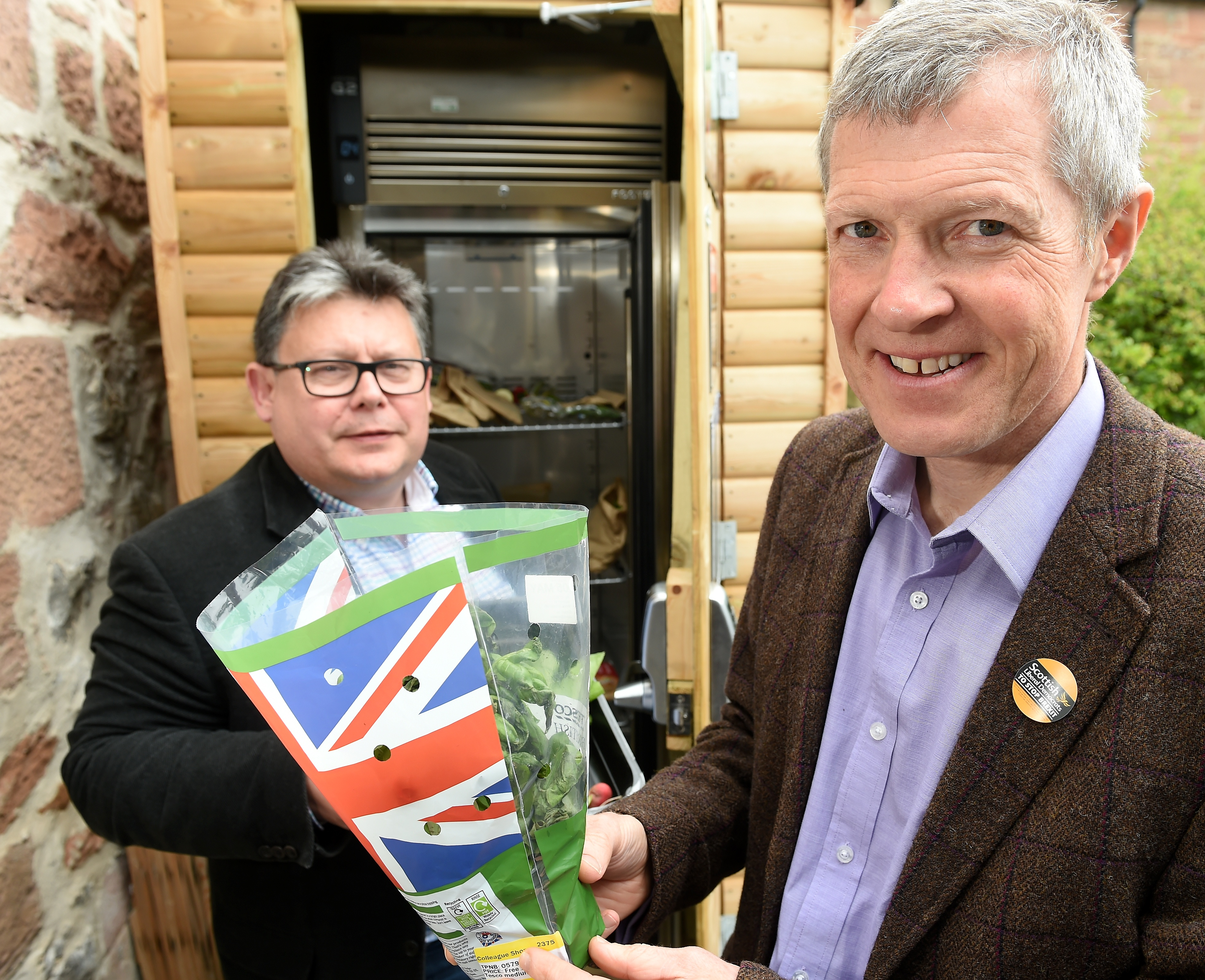 Craig Harrow and Willie Rennie of the Lib Dems