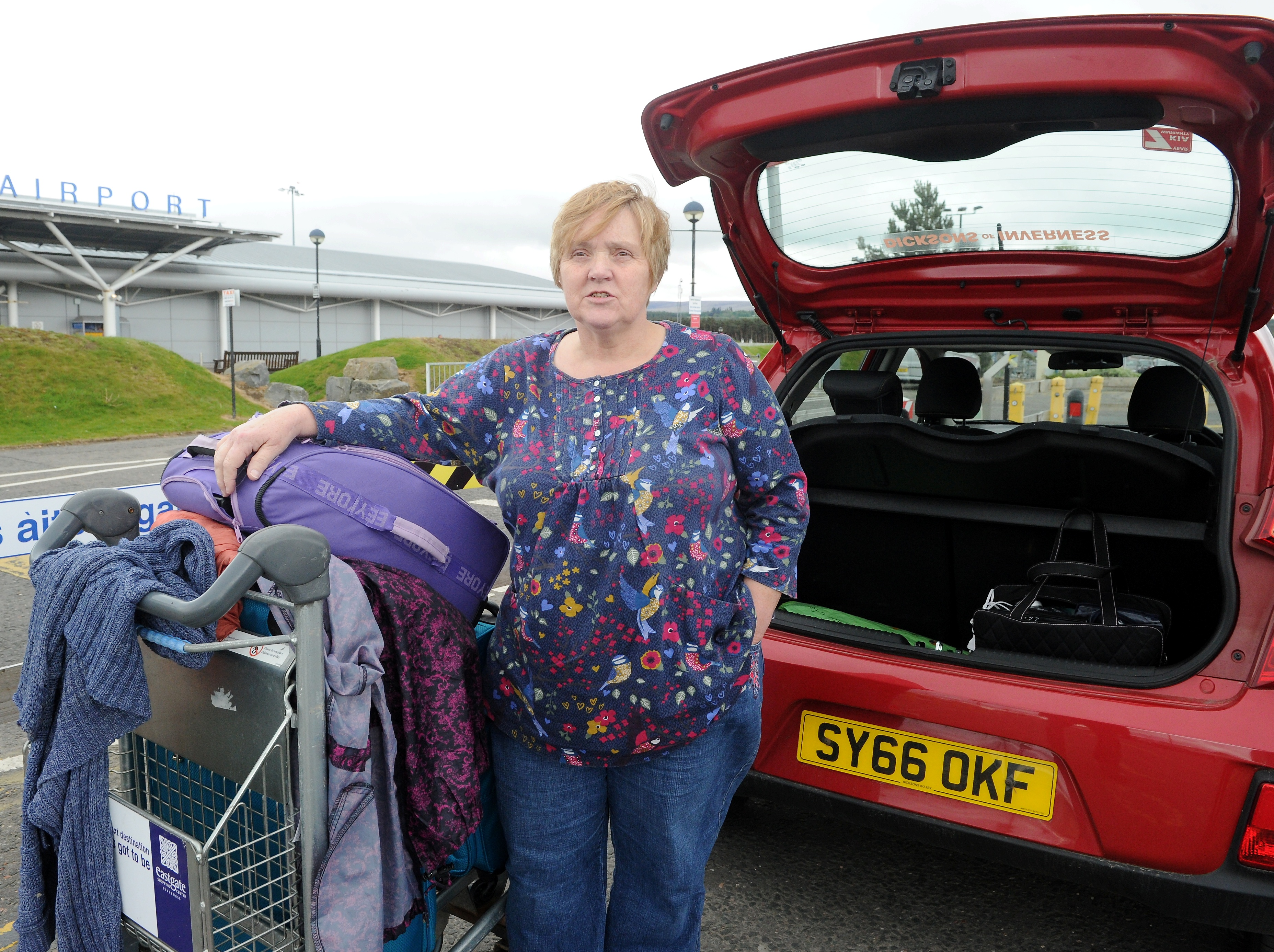 Caroline Tomkinson was preparing to travel to Bristol unaware her flight was cancelled.