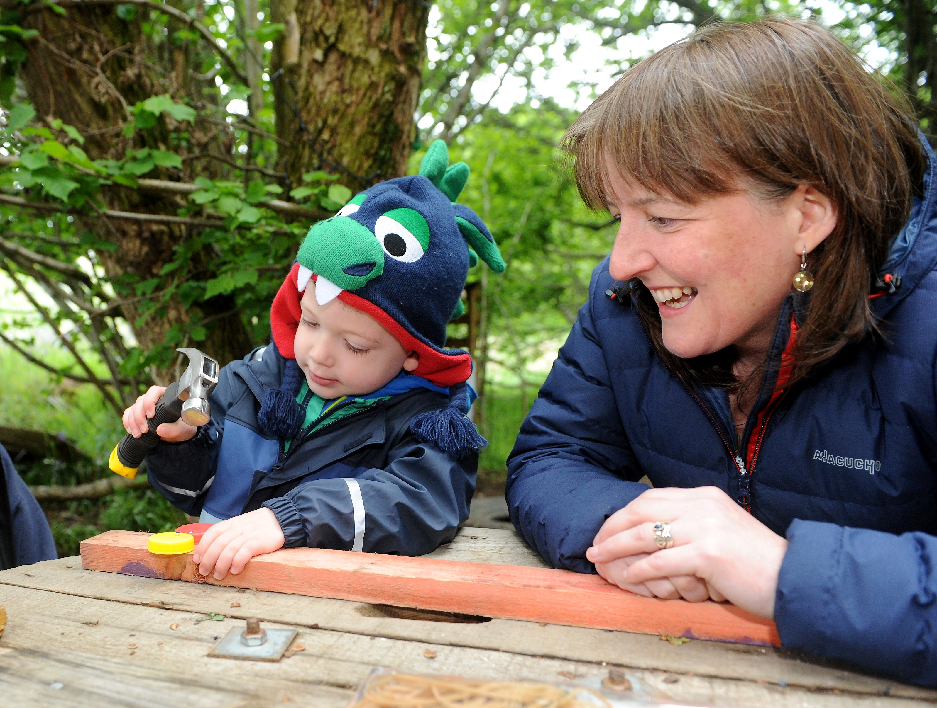 Marie Todd, Minister for Childcare and early years yesterday visited the children of the Tornagrain Nursery as part of National Outdoor Classroom Day.
