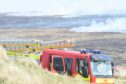 The fire service battled a wildfire at Melvich for almost a week. Picture by Sandy McCook.