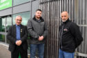 FRASERBURGH AND DISTRICT SAFETY GROUP MEMBERS (L TO R) BRIAN TOPPING, CHRIS ARNOTT AND JOHN ANDERSON