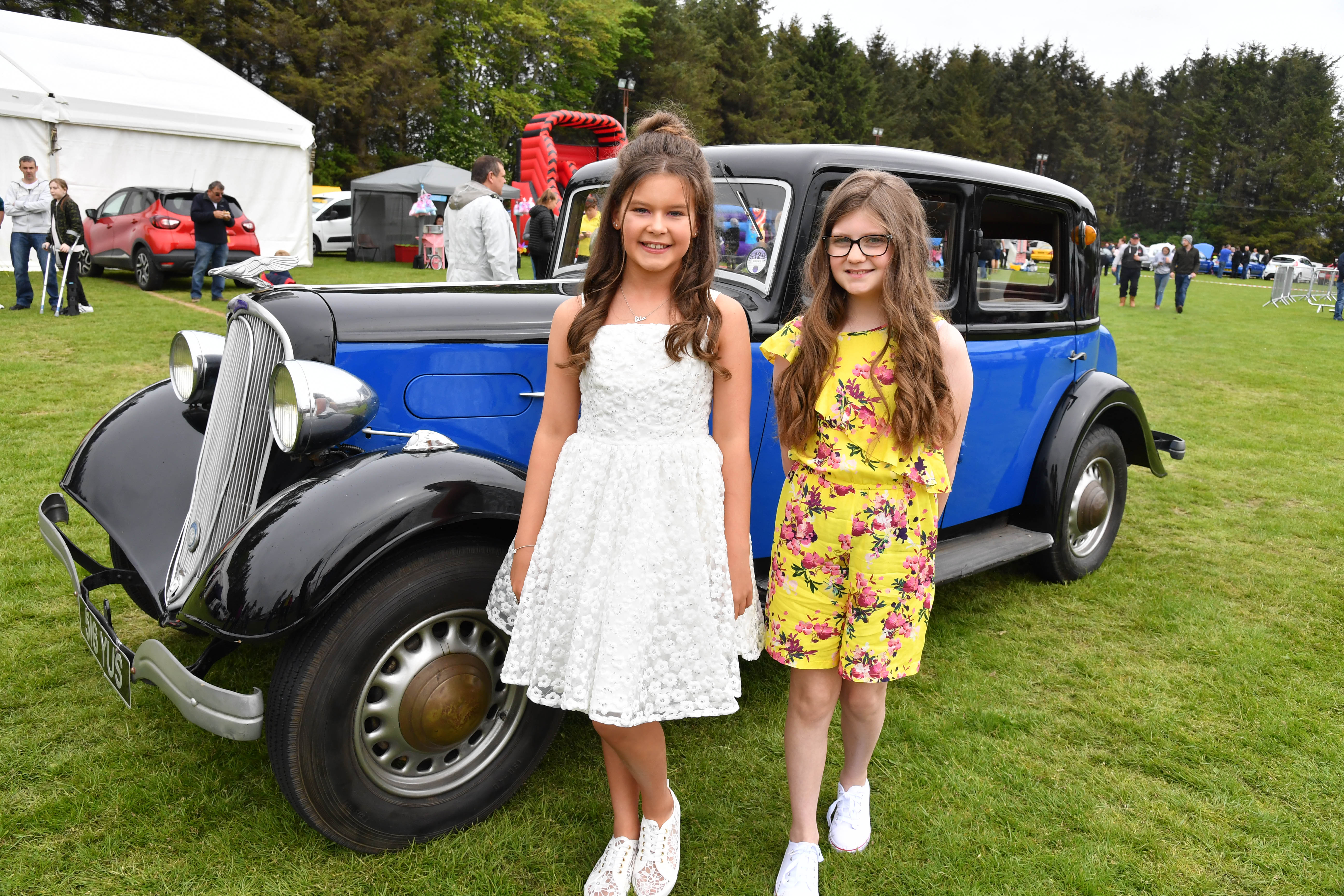 Gala princesses Ella Penny (left) and Alyssa Lamarsh at the gala