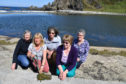 Friends of Tarlair members (L-R) Joan Rumens, Pat Wain, Jacque Horning, Doreen Shearer and Lorraine Smith have been leaning seaweed from the pools.