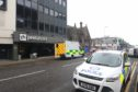 Emergency services attended the incident on Academy Street yesterday morning.