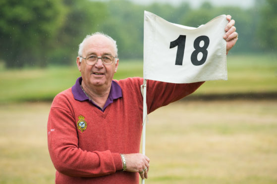 Peter Spurling, club secretary at Garmouth and Kingston Golf Club, on the 18th hole, which many golfers across the north-east don't think exist.