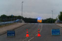 The scene at Reiket Lane, Elgin, following the incident.