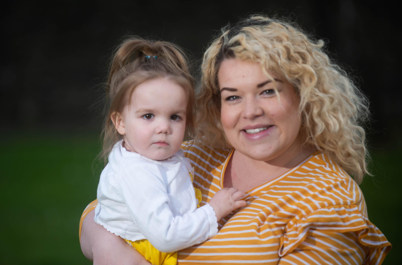 Adeline with mum Stephanie.