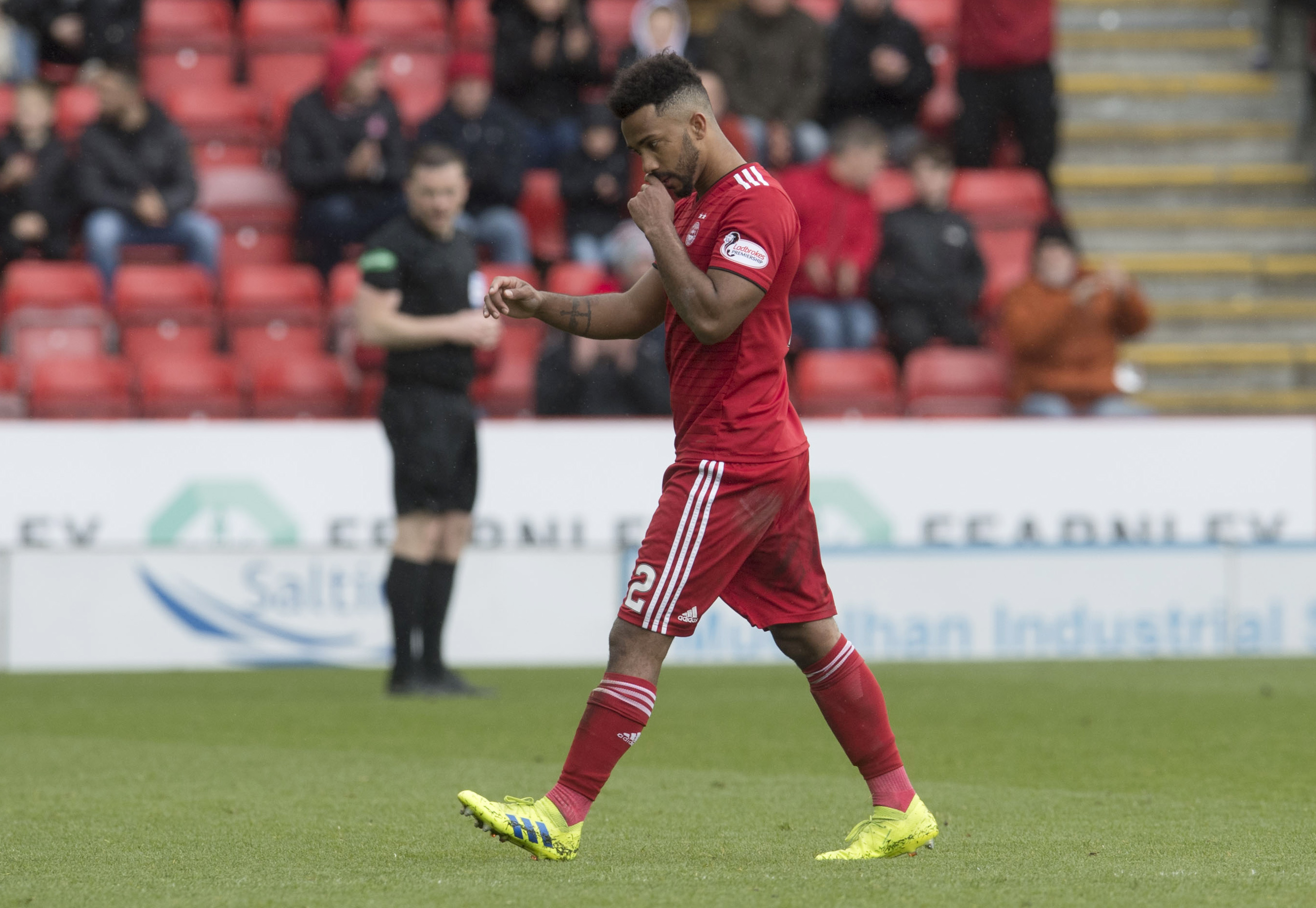 Shay Logan returned to the team against Celtic.