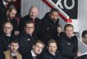 Aberdeen chairman Stewart Milne, left, with manager Derek McInnes.