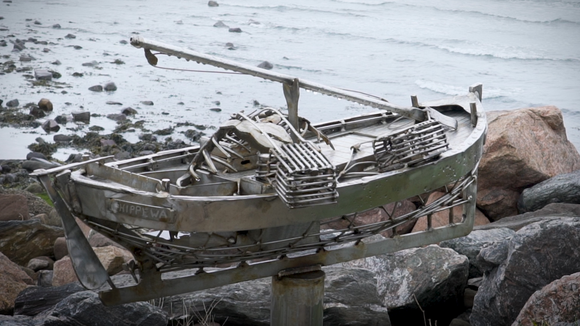 This latest piece – a creel fishing boat - 'mysteriously' appeared towards the end of 2018