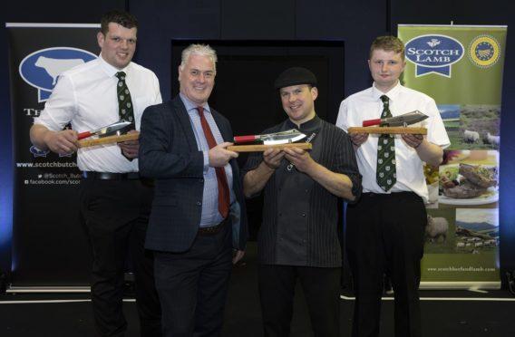 Steven Cusack, Quality Meat Scotland chairman Alan Clarke, Barry Green and Hamish Jones.