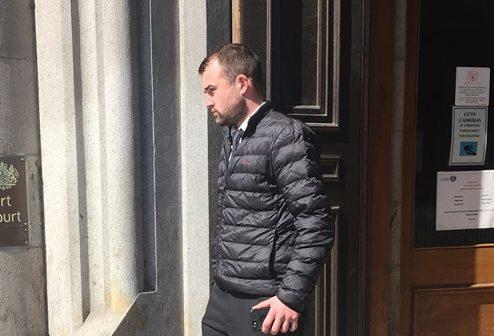 Stuart Wilkie leaving Aberdeen Sheriff Court