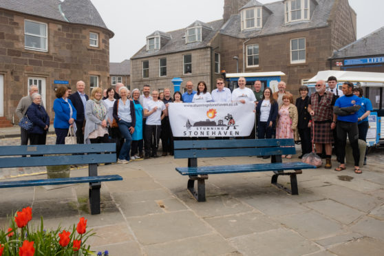 Stunning Stonehaven Launch with committee members, Jackie Lockheart and local business owners
