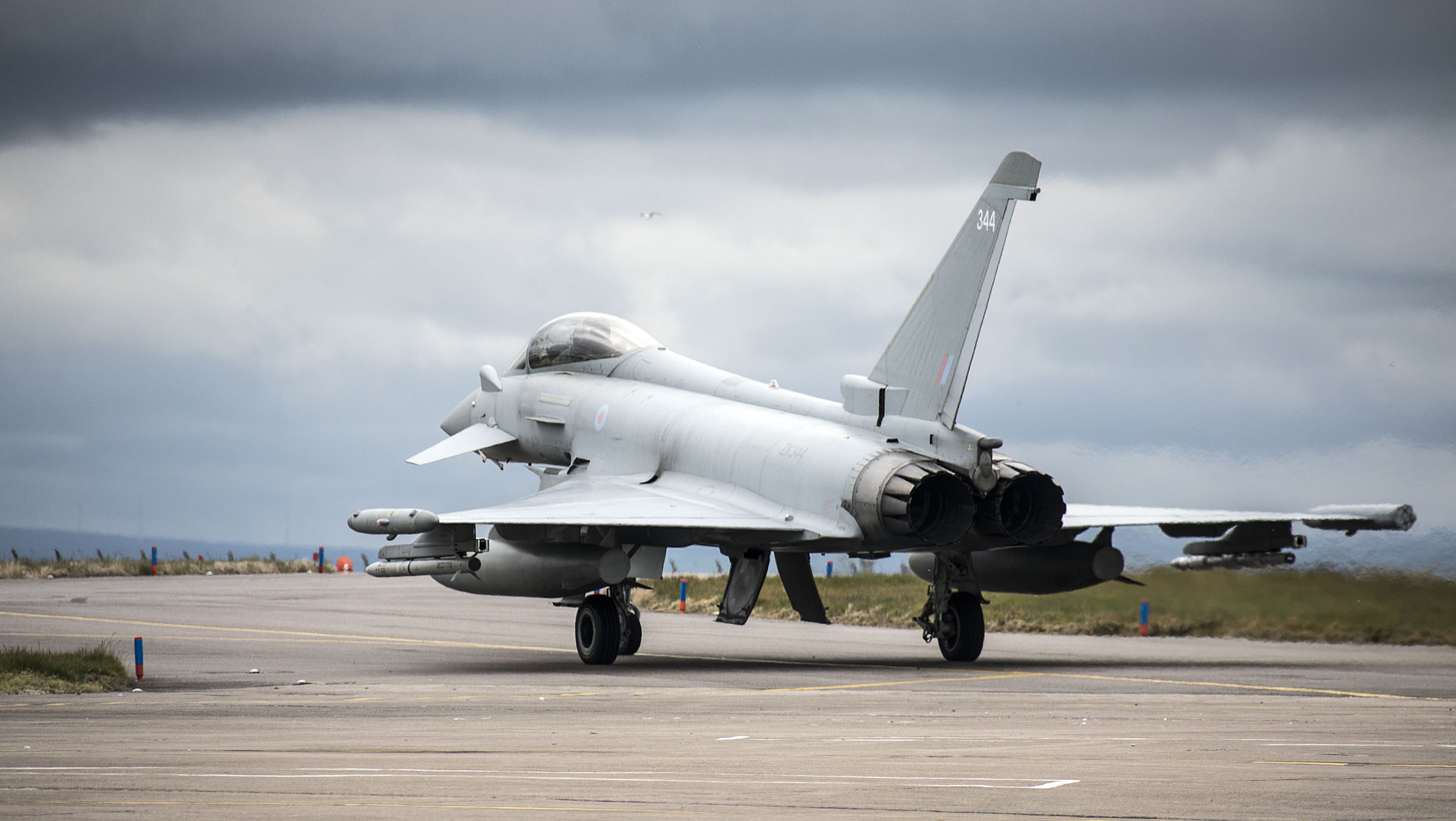 Five Typhoons from RAF Lossiemouth's 6 Sqn are taking part in the Arctic Challenge Exercise.