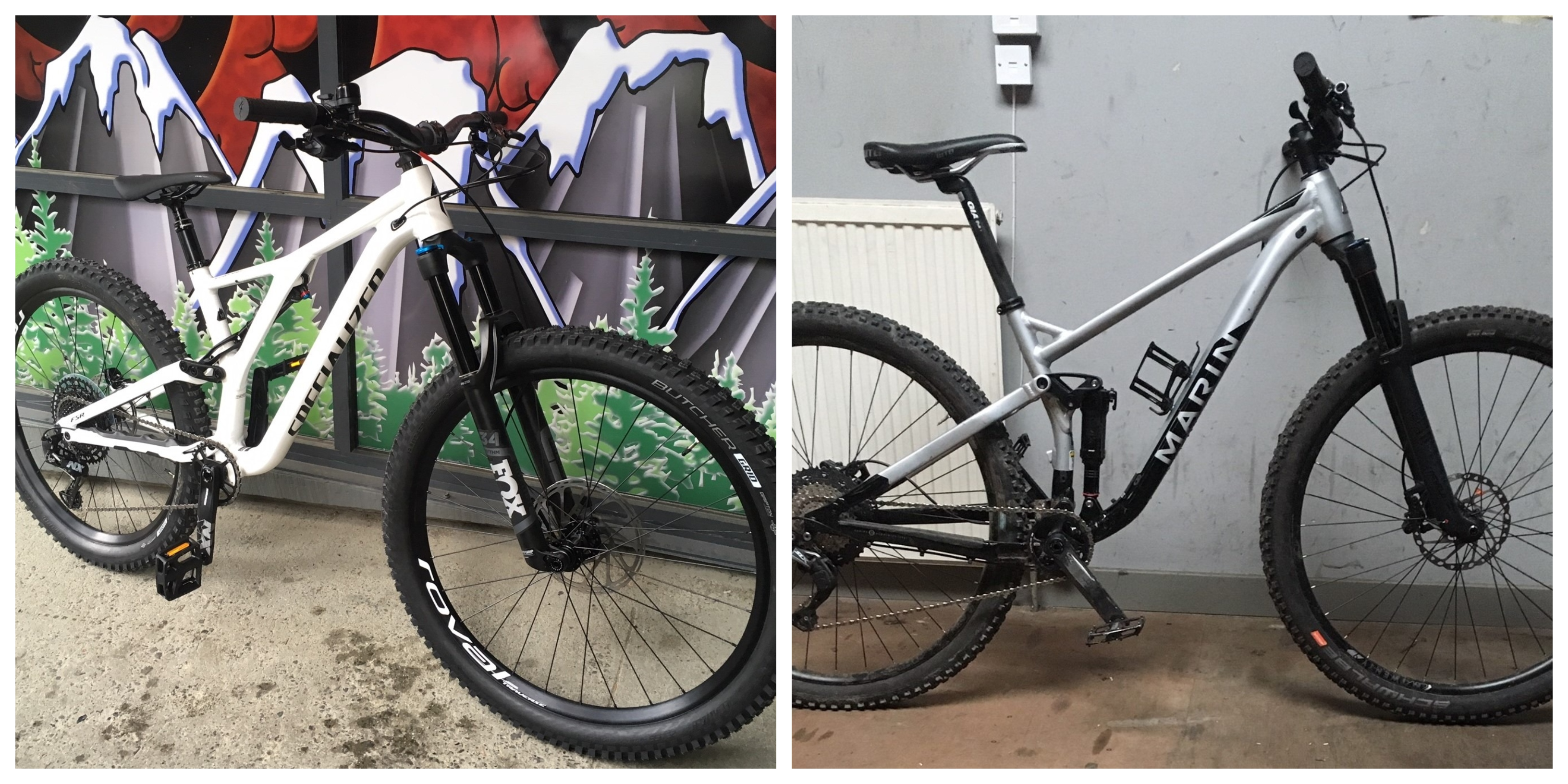 The stolen bikes from Forbesfield Road in Aberdeen.