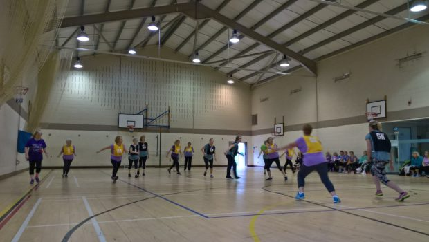 Walking Netball being played at Turriff Sports Centre