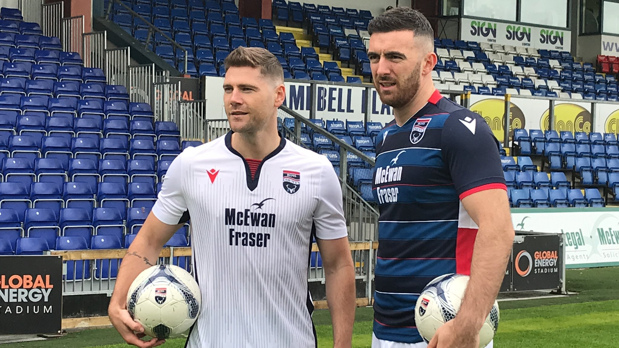 Iain Vigurs and Ross Draper in the new kits.