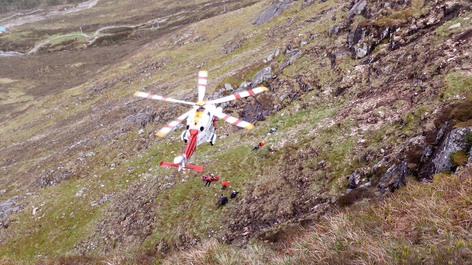 The rescue of a paraglider in Lochaber
