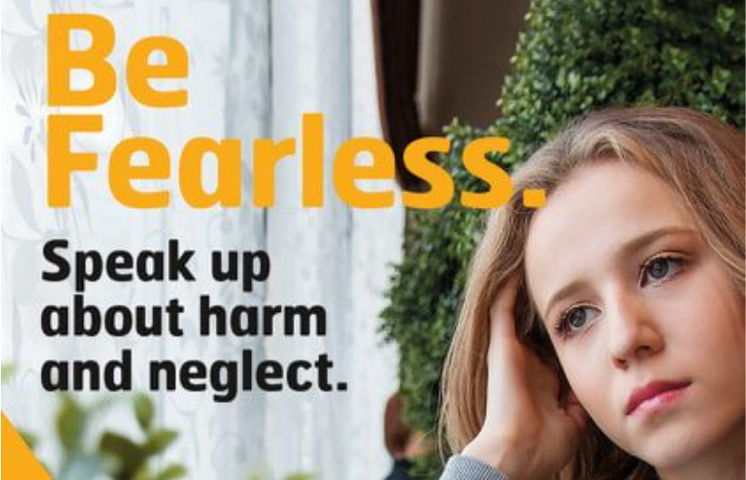 Children can report concerns at www.fearless.org