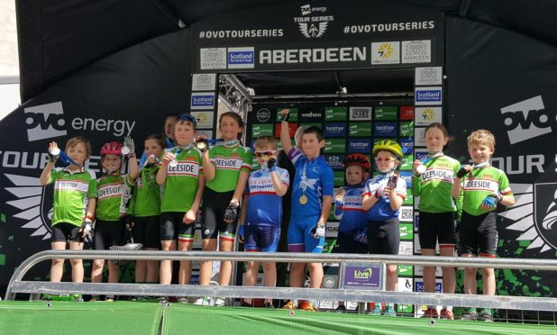 Some of the youngsters who took part in the races for children.